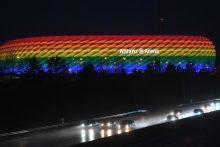UEFA atsisakė per Vokietijos ir Vengrijos mačą apšviesti stadioną vaivorykštės spalvomis