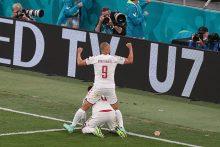 Danija triumfuoja: sutriuškino Rusijos futbolininkus ir iškopė į aštuntfinalį
