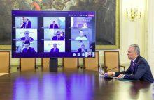 Prezidentas surengė posėdį dėl švietimo kokybės per pandemiją <span style=color:red;>(tiesiogiai)</span>