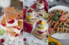 Vasaros skoniai: gaivūs desertai su uogomis <span style=color:red;>(receptai)</span>