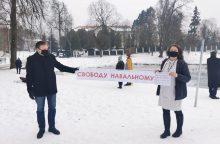 Po A. Navalno sulaikymo – piketas prie Rusijos ambasados Vilniuje <span style=color:red;>(atnaujinta)</span>